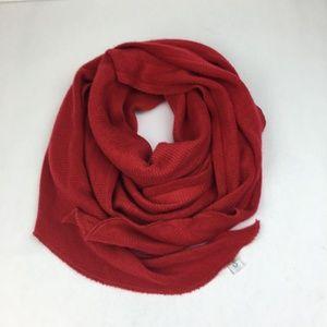 Calvin Klein Unisex Oblong Scarf Red Oversized